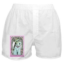 Love is a Wire Fox Terrier Boxer Shorts
