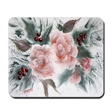 """""""Roses and Holly"""" Mousepad"""