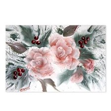 """""""Roses and Holly"""" Postcards (Package of 8)"""
