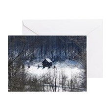 Winter Cabin Merry Christmas Greeting Card