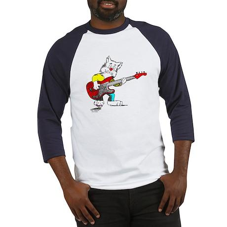 Catoons™ Bass Guitar Cat Baseball Jersey
