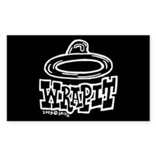 Condom Wrap It (right) Rectangle Decal