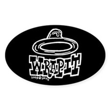 Condom Wrap It (right) Oval Decal