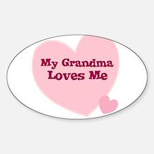 My Grandma Loves Me Oval Decal