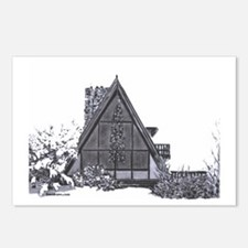 Cute Mountain cabin Postcards (Package of 8)