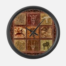 Unique African safari Large Wall Clock