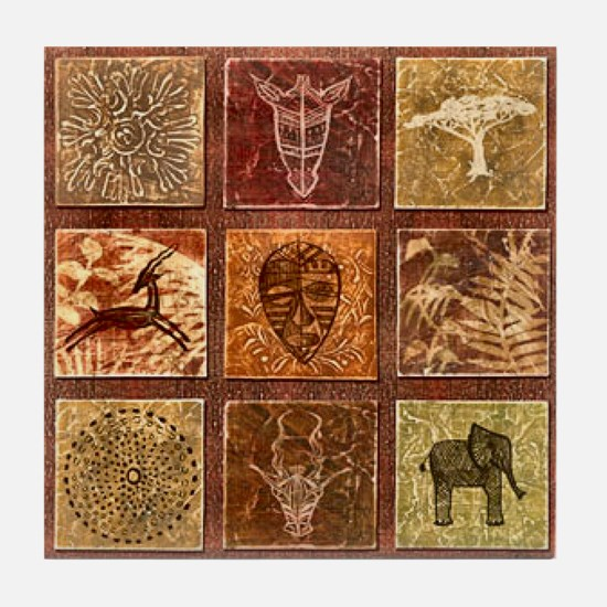 Funny Afrocentric Tile Coaster