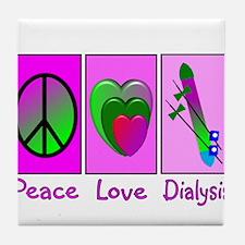 Cute Dialysis patient Tile Coaster