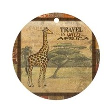 Cute Safari Ornament (Round)