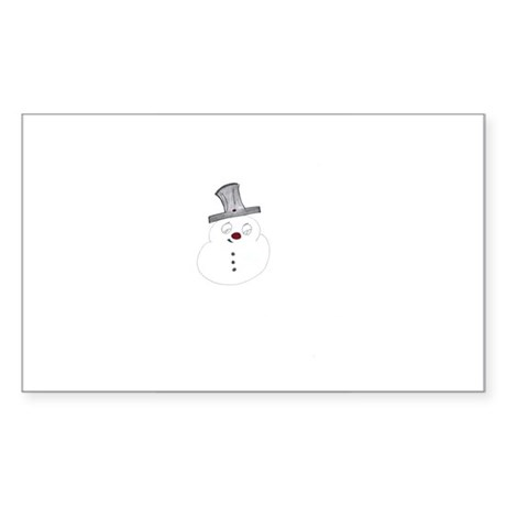 Frosty Snowman Rectangle Sticker