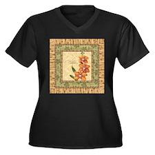 Funny Tropical wall Women's Plus Size V-Neck Dark T-Shirt