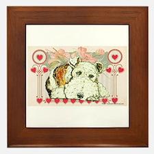 Wire Fox Terrier Love Framed Tile