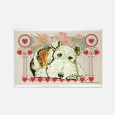 Wire Fox Terrier Love Rectangle Magnet