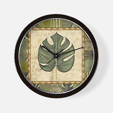 Tropical wall Wall Clock