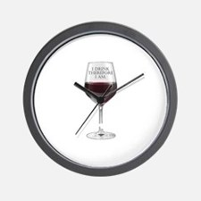 I Drink Therefore I Am Wall Clock