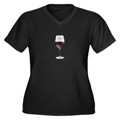 I Drink Therefore I Am Women's Plus Size V-Neck Da