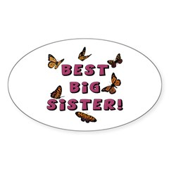 Best Big Sister! Oval Decal