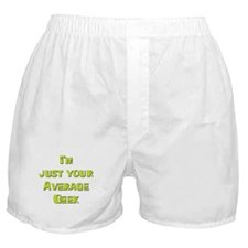 Average Geek Boxer Shorts