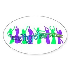 bellydancers Oval Decal