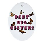 Best Big Sister! Oval Ornament