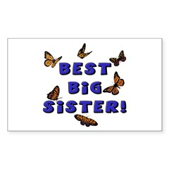 Best Big Sister! Rectangle Decal