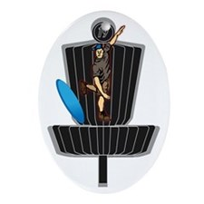 Ace Tomahawk2 Oval Ornament