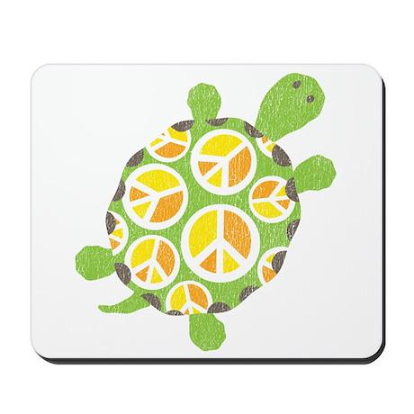 Peace Sign Turtle Mousepad