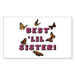 Best 'Lil Sister! Rectangle Decal