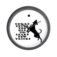Old Dog New Tricks Wall Clock