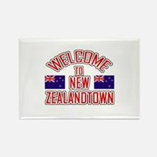 Welcome to New Zealand Town Rectangle Magnet