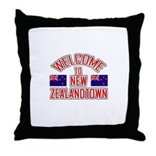Welcome to New Zealand Town Throw Pillow