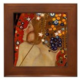 Klimt paintings Framed Tiles