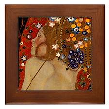 Gustav Klimt Sirens Art Framed Tile