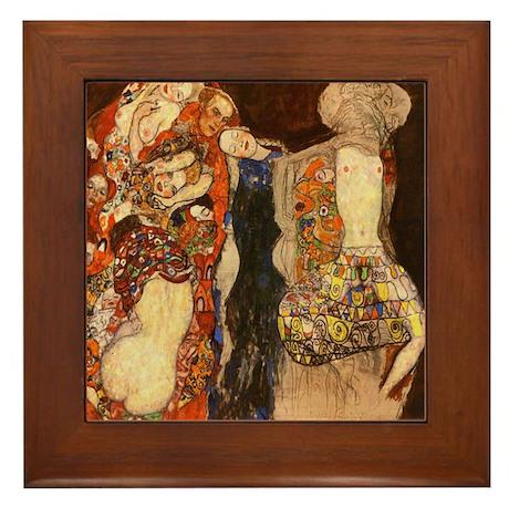 Gustav Klimt Art Framed Tile The Bride