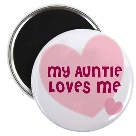 """My Auntie Loves Me 2.25"""" Magnet (10 pack)"""
