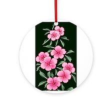 Japanese textile Cherry tree Ornament (Round)