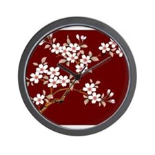 Japanese textile Cherry tree Wall Clock
