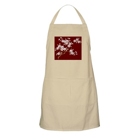 Japanese textile Cherry tree Apron