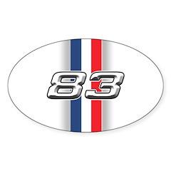 Cars 1983 Oval Sticker (50 pk)