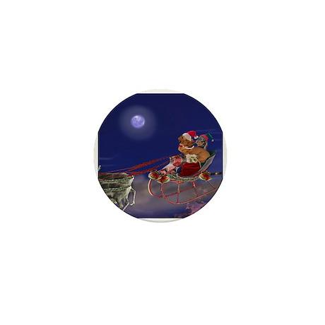 Sleigh Ride Mini Button (10 pack)