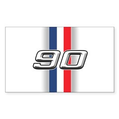 Cars 1990 Rectangle Sticker 50 pk)