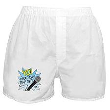 Yo! Wrap day rap off! Boxer Shorts