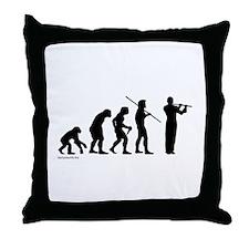 Flute Evolution Throw Pillow