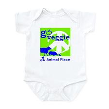 Go Veggie/Peace-Children's Clothing Infant Bodysui