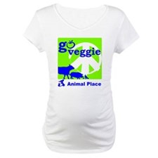 Go Veggie/Peace-Adult Clothing Shirt