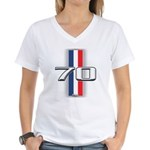 Cars 1970 Women's V-Neck T-Shirt