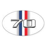 Cars 1970 Oval Sticker (50 pk)
