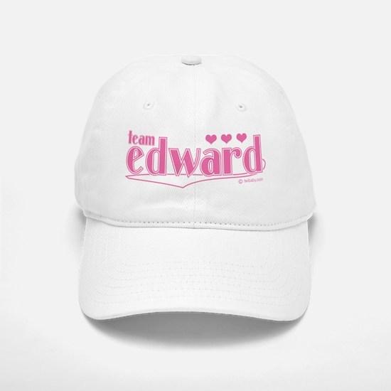 Team Edward Pink Hearts Hat Baseball Baseball Cap