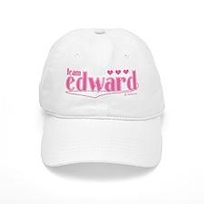Team Edward Pink Hearts Hat Baseball Cap