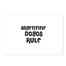 ARGENTINE DOGOS RULE Postcards (Package of 8)